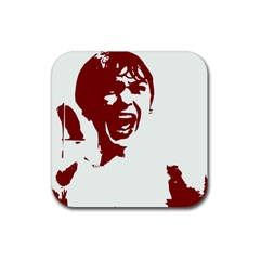 Psycho Rubber Coaster (square)  by icarusismartdesigns