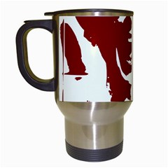Psycho Travel Mugs (white) by icarusismartdesigns