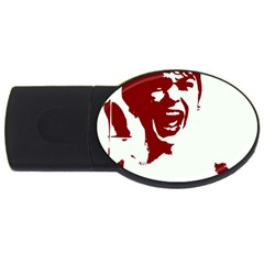 Psycho Usb Flash Drive Oval (4 Gb)  by icarusismartdesigns