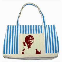 Psycho Striped Blue Tote Bag  by icarusismartdesigns