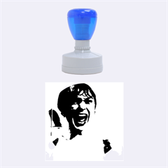 Psycho Rubber Round Stamps (medium) by icarusismartdesigns