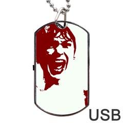 Psycho Dog Tag Usb Flash (one Side) by icarusismartdesigns