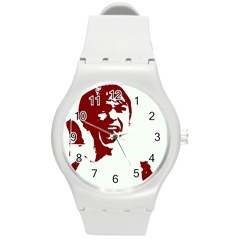Psycho Round Plastic Sport Watch (m) by icarusismartdesigns