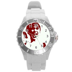 Psycho Round Plastic Sport Watch (l) by icarusismartdesigns