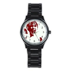 Psycho Stainless Steel Round Watches by icarusismartdesigns