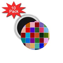 Multi Colour Squares Pattern 1 75  Magnets (10 Pack)  by LovelyDesigns4U