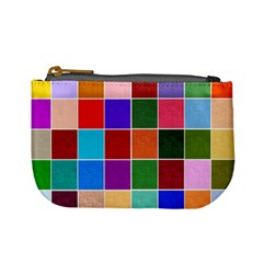Multi Colour Squares Pattern Mini Coin Purses
