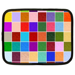 Multi Colour Squares Pattern Netbook Case (xxl)  by LovelyDesigns4U