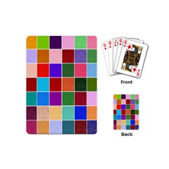Multi Colour Squares Pattern Playing Cards (mini)  by LovelyDesigns4U