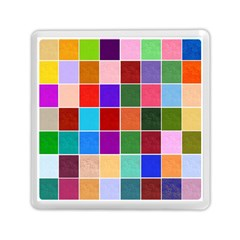 Multi Colour Squares Pattern Memory Card Reader (square)  by LovelyDesigns4U