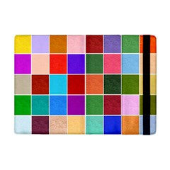 Multi Colour Squares Pattern Ipad Mini 2 Flip Cases by LovelyDesigns4U