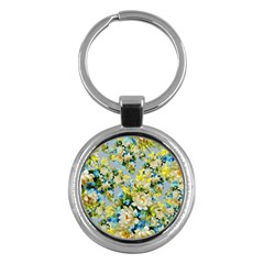 Vintage Floral Pattern Key Chains (round)  by LovelyDesigns4U