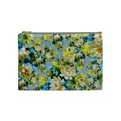 Vintage Floral Pattern Cosmetic Bag (medium)