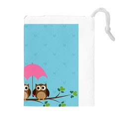 Owls Drawstring Pouch (xl)