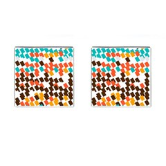 Rectangles On A White Background Cufflinks (square) by LalyLauraFLM