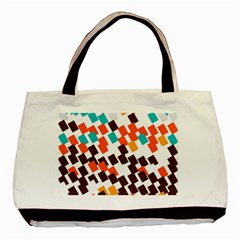 Rectangles On A White Background Basic Tote Bag by LalyLauraFLM