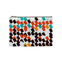 Rectangles On A White Background Cosmetic Bag (medium) by LalyLauraFLM