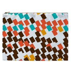 Rectangles On A White Background Cosmetic Bag (xxl) by LalyLauraFLM