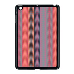 Triangles And Stripes Pattern Apple Ipad Mini Case (black) by LalyLauraFLM