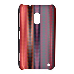 Triangles And Stripes Pattern Nokia Lumia 620 Hardshell Case by LalyLauraFLM