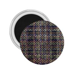 Multicolored Ethnic Check Seamless Pattern 2 25  Magnets by dflcprints