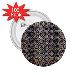 Multicolored Ethnic Check Seamless Pattern 2 25  Buttons (100 Pack)  by dflcprints