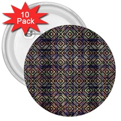 Multicolored Ethnic Check Seamless Pattern 3  Buttons (10 Pack)  by dflcprints