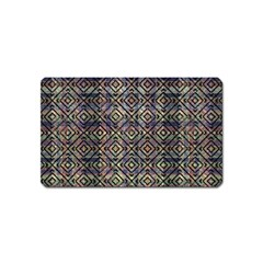 Multicolored Ethnic Check Seamless Pattern Magnet (name Card) by dflcprints
