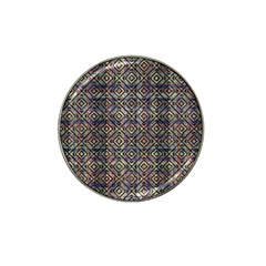Multicolored Ethnic Check Seamless Pattern Hat Clip Ball Marker by dflcprints