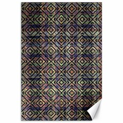 Multicolored Ethnic Check Seamless Pattern Canvas 12  X 18   by dflcprints