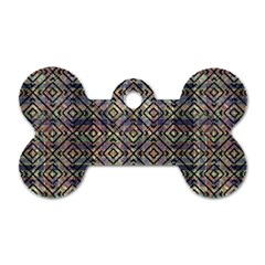 Multicolored Ethnic Check Seamless Pattern Dog Tag Bone (two Sides) by dflcprints
