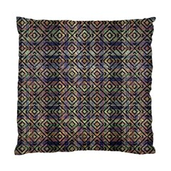Multicolored Ethnic Check Seamless Pattern Standard Cushion Case (one Side)