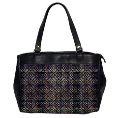 Multicolored Ethnic Check Seamless Pattern Office Handbags by dflcprints
