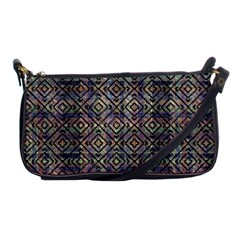 Multicolored Ethnic Check Seamless Pattern Shoulder Clutch Bags by dflcprints