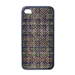 Multicolored Ethnic Check Seamless Pattern Apple Iphone 4 Case (black) by dflcprints
