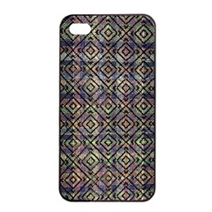 Multicolored Ethnic Check Seamless Pattern Apple Iphone 4/4s Seamless Case (black) by dflcprints