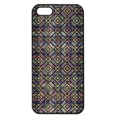 Multicolored Ethnic Check Seamless Pattern Apple Iphone 5 Seamless Case (black) by dflcprints