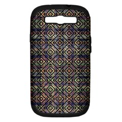Multicolored Ethnic Check Seamless Pattern Samsung Galaxy S Iii Hardshell Case (pc+silicone) by dflcprints