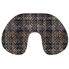 Multicolored Ethnic Check Seamless Pattern Travel Neck Pillows by dflcprints