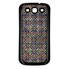 Multicolored Ethnic Check Seamless Pattern Samsung Galaxy S3 Back Case (black) by dflcprints