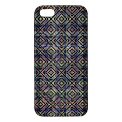 Multicolored Ethnic Check Seamless Pattern Iphone 5s Premium Hardshell Case by dflcprints