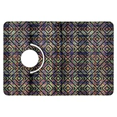 Multicolored Ethnic Check Seamless Pattern Kindle Fire Hdx Flip 360 Case by dflcprints