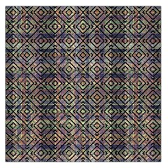 Multicolored Ethnic Check Seamless Pattern Large Satin Scarf (square) by dflcprints