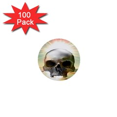 Skull Sunset 1  Mini Buttons (100 Pack)  by icarusismartdesigns