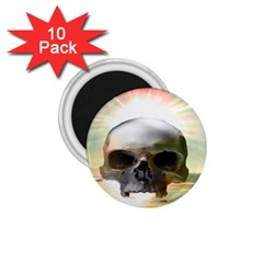 Skull Sunset 1 75  Magnets (10 Pack)  by icarusismartdesigns