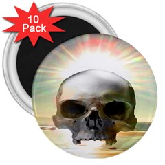 Skull Sunset 3  Magnets (10 Pack)  by icarusismartdesigns