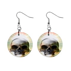 Skull Sunset Mini Button Earrings by icarusismartdesigns