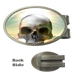 Skull Sunset Money Clips (oval)  by icarusismartdesigns