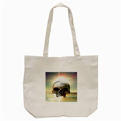 Skull Sunset Tote Bag (cream)  by icarusismartdesigns