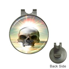 Skull Sunset Hat Clips With Golf Markers by icarusismartdesigns